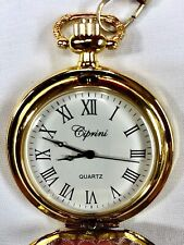Ciprini Quartz Pocket  Watch With Chain; New Battery