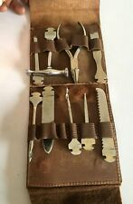 Vintage Old Set Of Kirchhoff Tool Made in Germany with Original Leather Case