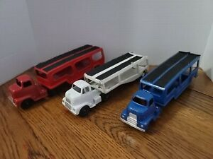 Tootsie Toy Truck Buddy L Toy Car Hauler Lot Of 3 Red White Blue