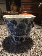 Bumentopf echt delfter Keramik signiert gekauft bei Weber Keramik Köln