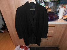 Vtg 1920s Bespoke Black Morning Tailcoat size 38""