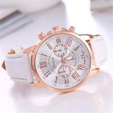 88335fd10a09 New Fashion Geneva Women Leather Band Stainless Steel Quartz Analog Wrist  Watch