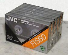 Lagerfund - Musik Kassette JVC 60min. Musikkassetten 5 x Leerkassette ovp.