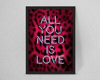 Personalised Custom NEON light art print,Perfect Home Decor/Kitchen print poster
