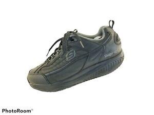 Skechers Mens Shape Ups  Walking Shoes Black 52000 Leather Lace Up  Top 11.5M