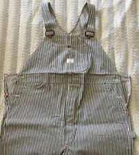 Nos Deadstock Big Mac Penneys Union Made Sanforized Engineer Stripe Bib Overalls