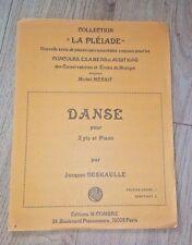 DANSE POUR XYLO ET PIANO Collection La Pléiade conçue pour concours examens etc;