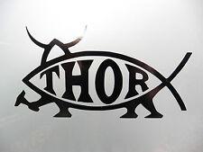 Darwin Thor fish Religion car/van/bumber/window/decal/sticker  Black 5218