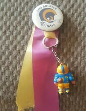 VINTAGE 1970s LOS ANGELES RAMS  1 1/2  Inch  button & charm.
