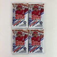 4 Topps 2021 MLB Baseball Series 1-64 Cards Factory Sealed Individual Packs