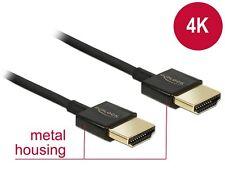Delock HDMI Highspeed Kabel mit Ethernet St / St 2m 4K 3D Slim (84773)