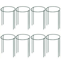 Plant Support Stake, 8-Pack Half Round Metal Garden Plant Supports, Green GaY9X6