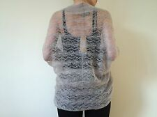 All Saints Mohair Lace Batwing Bryce Shrug in Vintage Pink Size 8/10 RRP £80