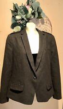 Banana Republic One Button Wool Blazer Jacket Coat Olive Green Size 16