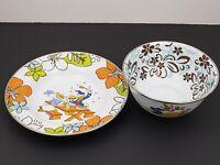 Disney Store Plate & Bowl- Donald & Daisy Duck- Goofy & Pluto