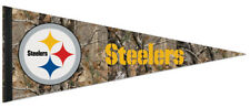 Pittsburgh Steelers REALTREE CAMO STYLE Official NFL Logo Collector's PENNANT