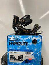 New listing Hyperlite System Pro Wakeboard Bindings Black L/Xl 10-13