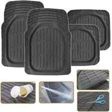 Us Car Floor Mats For All Weather Waterproof Rubber 4pc Set Fit Heavy Duty Black