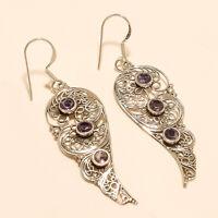 Panorama Purple Amethyst Earrings 925 Sterling Silver Fine Wedding Jewelry Gifts