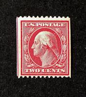 Scott US # 349 - 1908-10 Coil Stamps, Washington, 2 cents; MNH; CV=$225