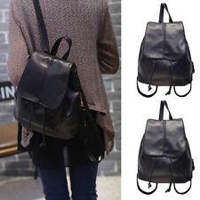 Women's PU Leather Fashion Travel Satchel Shoulder Backpack School ...