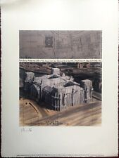 """Christo Javacheff  """"Project Wrapped Reichstag - 56x76 - Hand signed"""