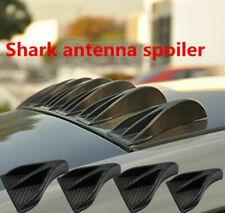 8Pcs Universal Carbon Fiber Vortex Generator Shark Fin Car SUV Roof Spoiler Wing