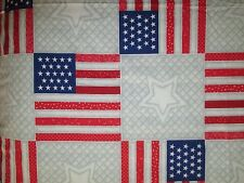 New listing Daisy Kingdom Quilters Only 4582 Faux Flag Star Quilt Fabric