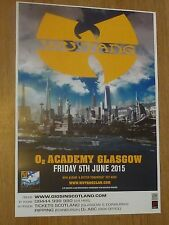 Wu Tang Clan live music memorabilia - Glasgow june 2015 show concert gig poster