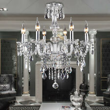 kingso E12 Elegant Crystal Candle Decoration Chandelier Pendant Ceiling 6 Light