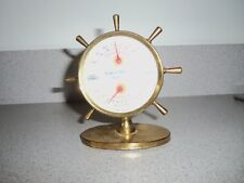 Vintage Antique TEMPERATURE & HUMIDITY GUAGE BLUE SUNOCO, SOLAR PETROLEUM, INC.