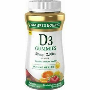 Nature's Bounty® Vitamin D3 50 mcg 2,000 IU, 90 Gummies