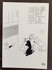 DUBOUT les chiens carte postale (D42) état neuf