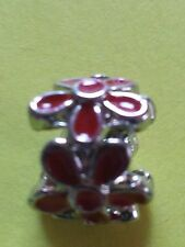 New European Charm Silver Red flowers. Buy1,19 more ship free! buy 5 get 1 Fr