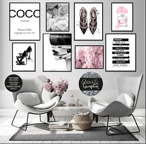Fashion wall art,Coco quote,Beauty art,Make up poster,Fashion Prints,quote print
