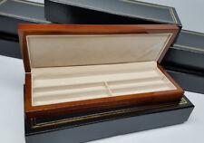 Lot Of 6 Polished Wood Watch Bracelet Jewelry Display Storage Boxes Felt Lined