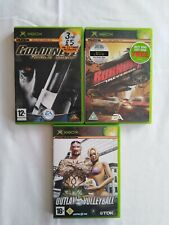 3 XBOX 360 LIVE jeux GOLDEN EYE Rogue Agent Burnout Revenge Outlaw Volleyball