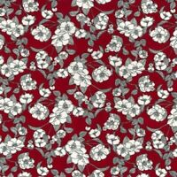 Burgundy Floral Fabric Rose & Hubble 100% cotton fabric Metre or 1/2 Metre