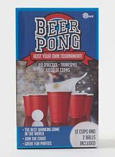 Zap PLASTICA BIRRA PONG adulto partito di alcol potabile gioco con 12 tazze