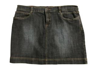 "Daisy Fuentes Stretch Jean Miniskirt Women's Size 14 (Waist 35"" Length 16"" )"