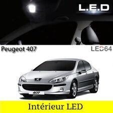 Kit ampoules à LED pour l'éclairage intérieur habitacle blanc Peugeot 407