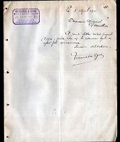 """AUZANCES (23) MATERIAUX de CONSTRUCTION & QUINCAILLERIE """"MERCUROL & LEGAL"""" 1910"""
