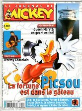LE JOURNAL DE MICKEY n°2686 ¤ 2003 ¤ AVEC POSTER QUEEN MARY 2