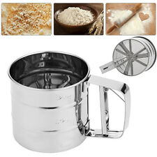 Stainless Steel Mesh Flour Sifter Sieve Strainer Cup Cake Baking Kitchen Tool