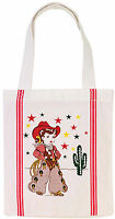 1950's Retro Style Little CowGirl Tote Bag 12x14X2 inches