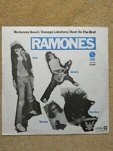 THE RAMONES - Teenage Labotomy Beat on the Brat Rockaway Beach - LP Vinyl Record