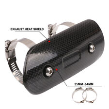 Carbon Fiber Exhaust Heat Shield Cover Protector For Honda Suzuki KTM Yamaha