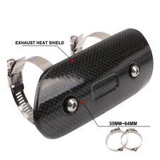 Carbon Fiber Exhaust Heat Shield Cover Protector For Honda Suzuki KTM Yamaha