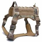 Vest Dog Harness Pets German Shepperd Animals Tactical Nylon Leash Large Small