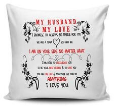 My Husband My Love I Promise To Always Be There For You Gift Cushion Cover
